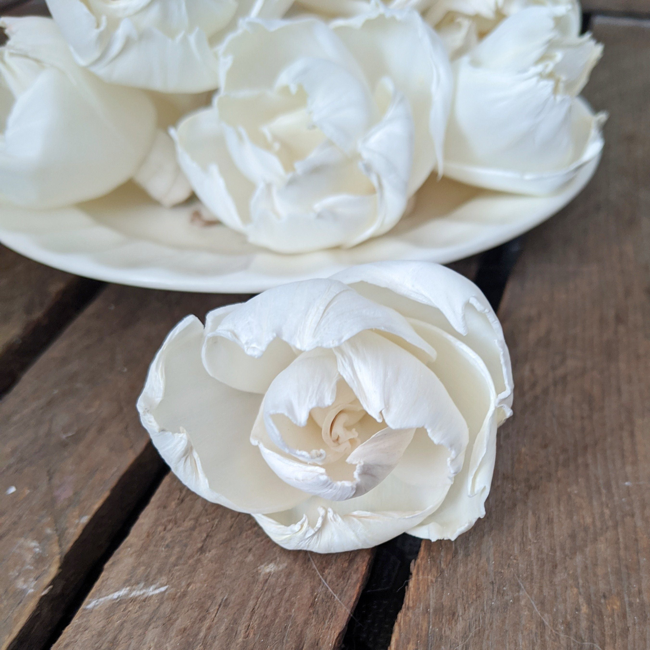 Ruffled Peony™ 1.5 inch - Set of 12 _sola_wood_flowers