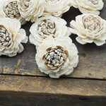 Ken-Ken Flower  - set of 12 - multiple sizes available - - sola wood flowers wholesale