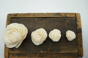 American Beauty Flower - set of 12- multiple sizes available - - sola wood flowers wholesale