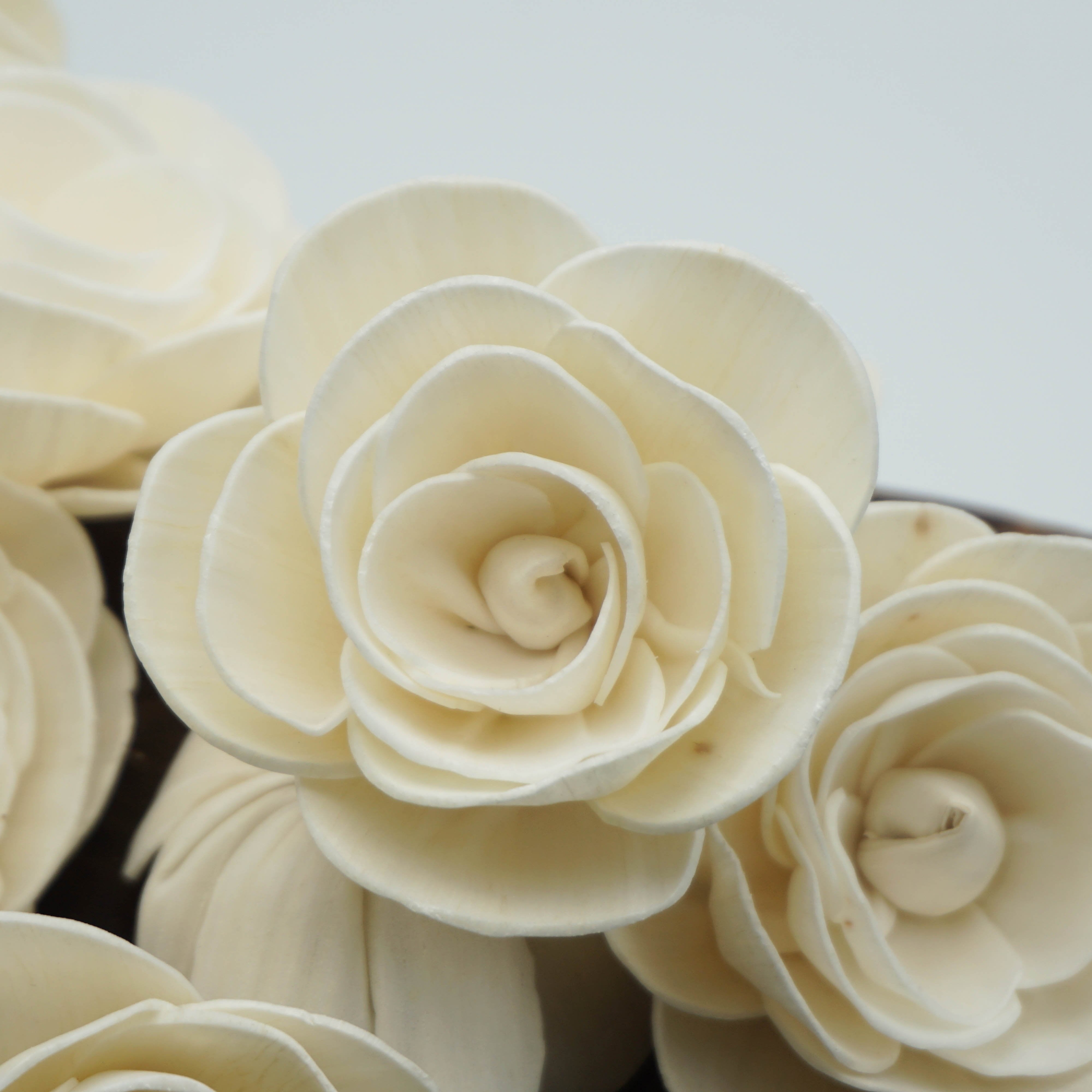 Buttercup Flower  - set of 12- multiple sizes available - - sola wood flowers wholesale