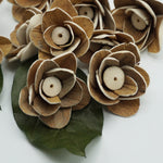 Cleo Flower  - set of 12- multiple sizes available - - sola wood flowers wholesale
