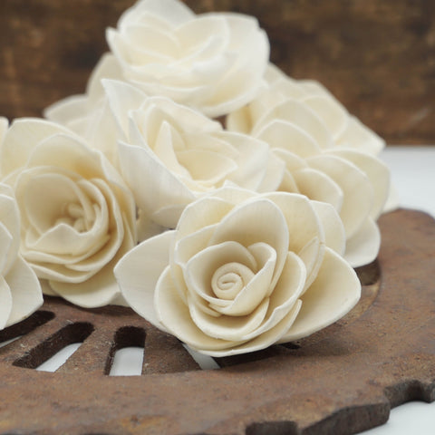 Gardenia Flower  - set of 12- multiple sizes available - - sola wood flowers wholesale