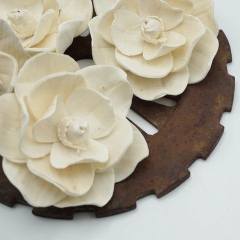 Magnolia Flower  - set of 12 - multiple sizes available - - sola wood flowers wholesale
