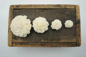 Marigold - set of 12 - multiple sizes available - - sola wood flowers wholesale