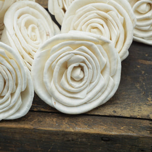 Sweetheart Flower - 3 inches- sold by the dozen - sola wood flowers wholesale