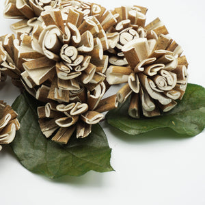 Twirl Flower - 2.5 inches- sold by the dozen - sola wood flowers wholesale