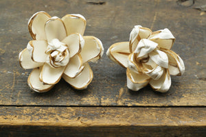 Valen Flower - set of 12- multiple sizes available - - sola wood flowers wholesale