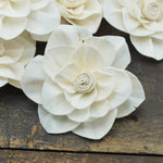 Whirl flower - set of 12- multiple sizes available - - sola wood flowers wholesale