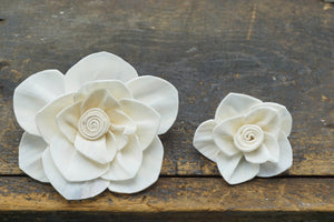 Whirl flower - set of 12- multiple sizes available -