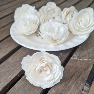 Sophia™ Flowers  - set of 12 - 1.5 inches _sola_wood_flowers