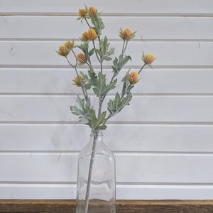 Spring Thistle  -yellow and orange- faux - sola wood flowers wholesale