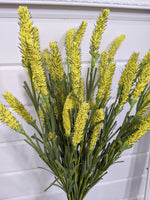 Yellow Veronica - faux/artificial filler - sola wood flowers wholesale