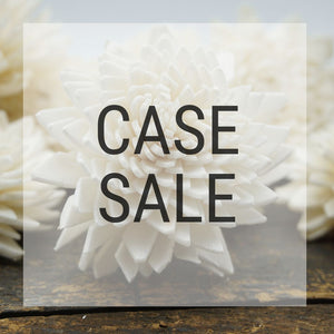 Case Sale - Zinny 1.5 Inches - 4800 Flowers - sola wood flowers wholesale