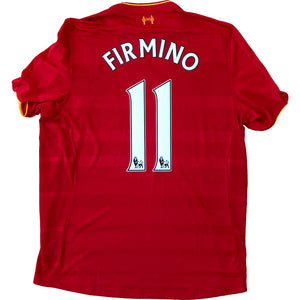 2016-17 Liverpool Home Jersey Firmino #11 BNWT XL - Relegation Rebels