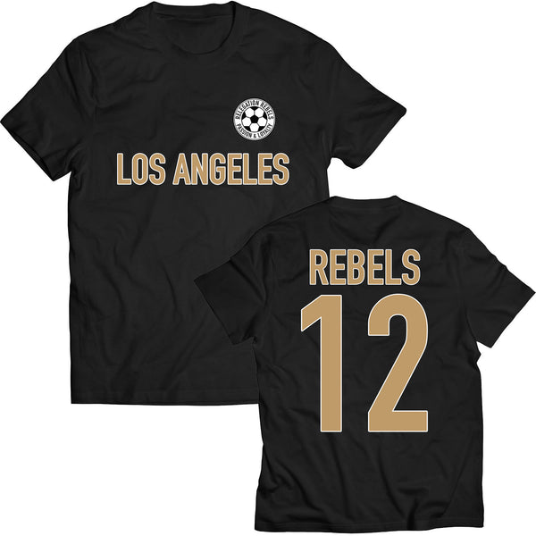 Los Angeles - Black and Gold Tee - Relegation Rebels
