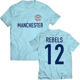 Manchester Sky Blue Tee - Relegation Rebels