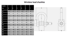 Load image into Gallery viewer, 35 Tonne wireless load shackle