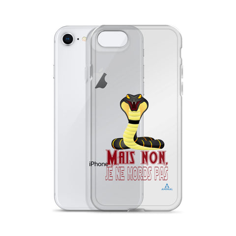 "Housse iPhone ""JE NE MORDS PAS"""