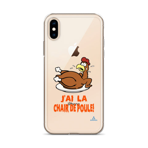 "Housse iPhone ""J'AI LA CHAIR DE POULE"""