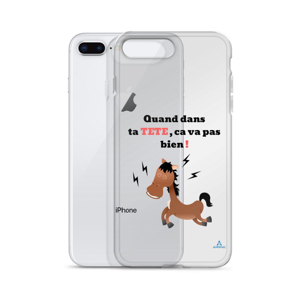 "Housse iPhone ""CHEVAL FOU"""