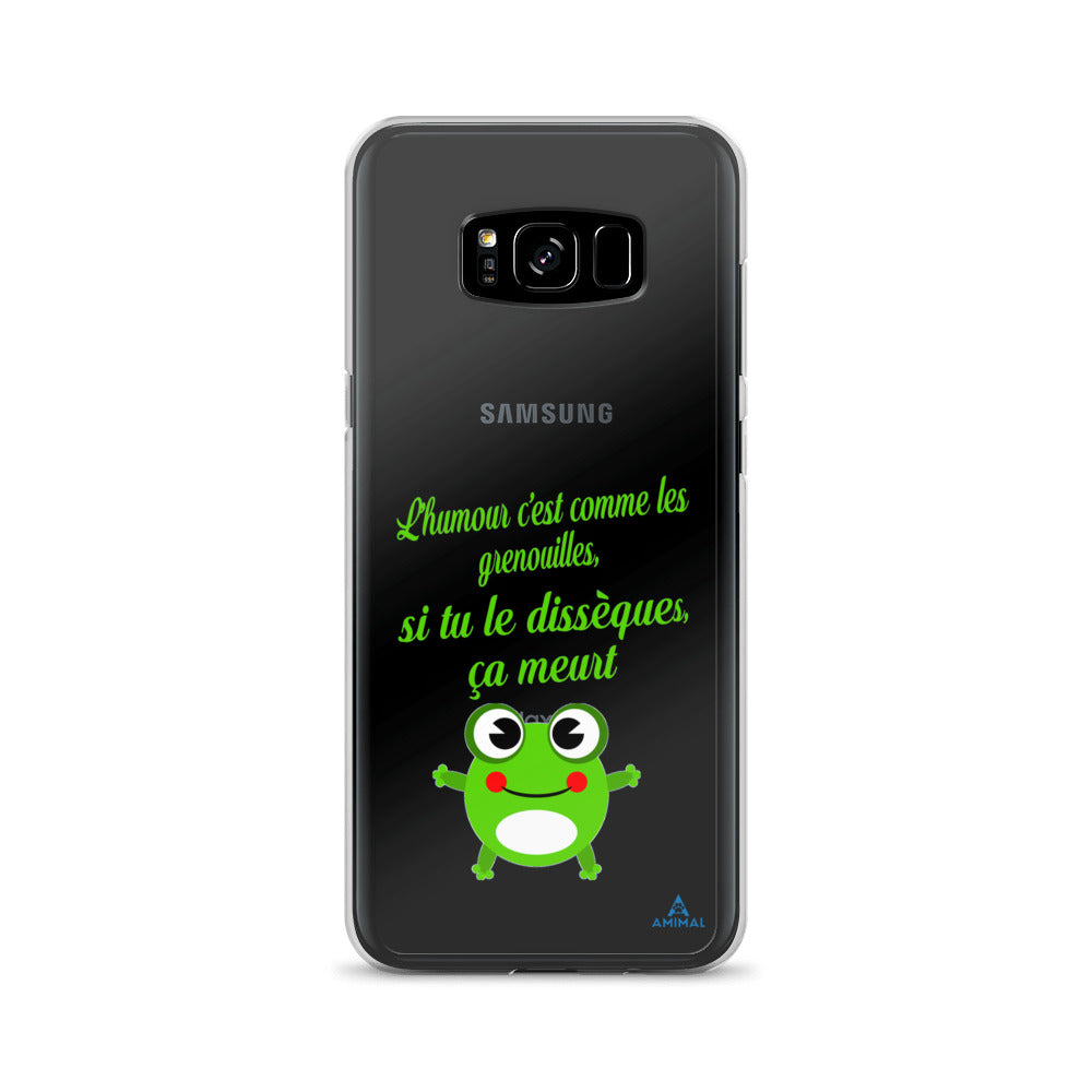 "Housse Samsung ""HUMOUR GRENOUILLE"""
