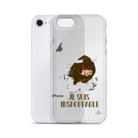 "Housse iPhone  ""JE SUIS INSTOPPABLE"""