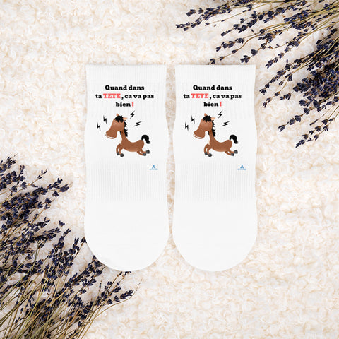 "Chaussettes ""CHEVAL FOU"""