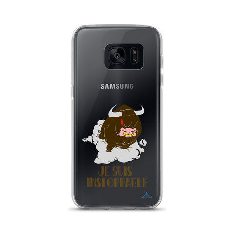 "Housse Samsung  ""JE SUIS INSTOPPABLE"""