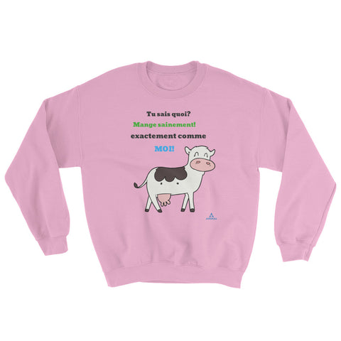 "Sweatshirt ""MANGE SAINEMENT"""