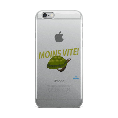 "Housse iPhone ""MOINS VITE"""