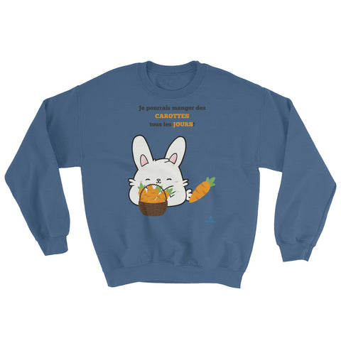 "Sweatshirt ""FAN DE CAROTTES"""