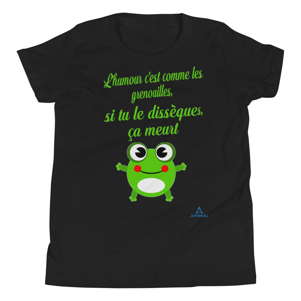 "T-Shirt Adolescent ""HUMOUR GRENOUILLE"""