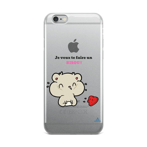 "Housse iPhone ""UN BISOU"""