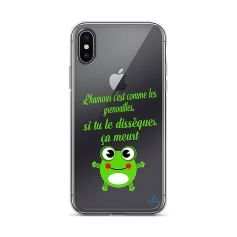 "Housse iPhone ""HUMOUR GRENOUILLE"""