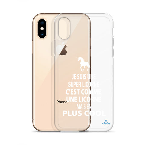 "Housse iPhone ""SUPER LICORNE"""