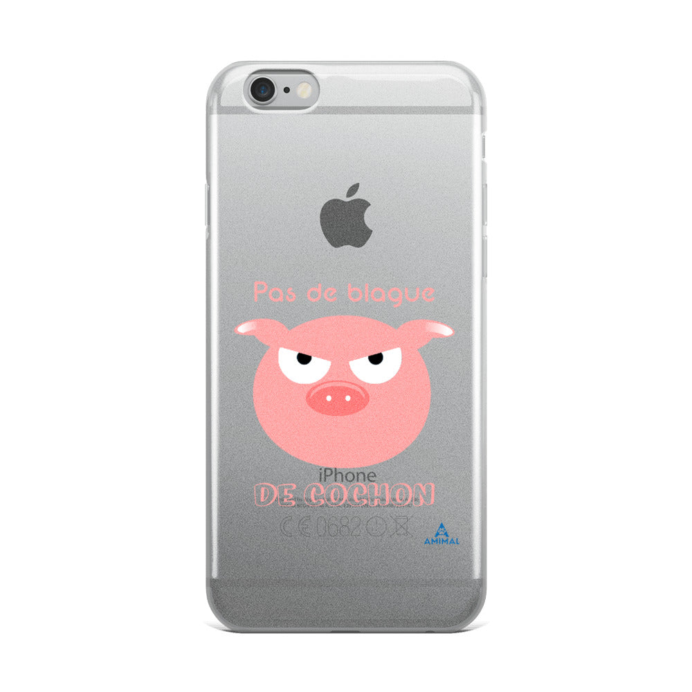"Housse iPhone ""BLAGUE DE COCHON"""