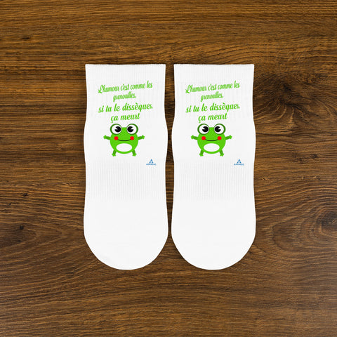 "Chaussettes ""HUMOUR GRENOUILLE"""