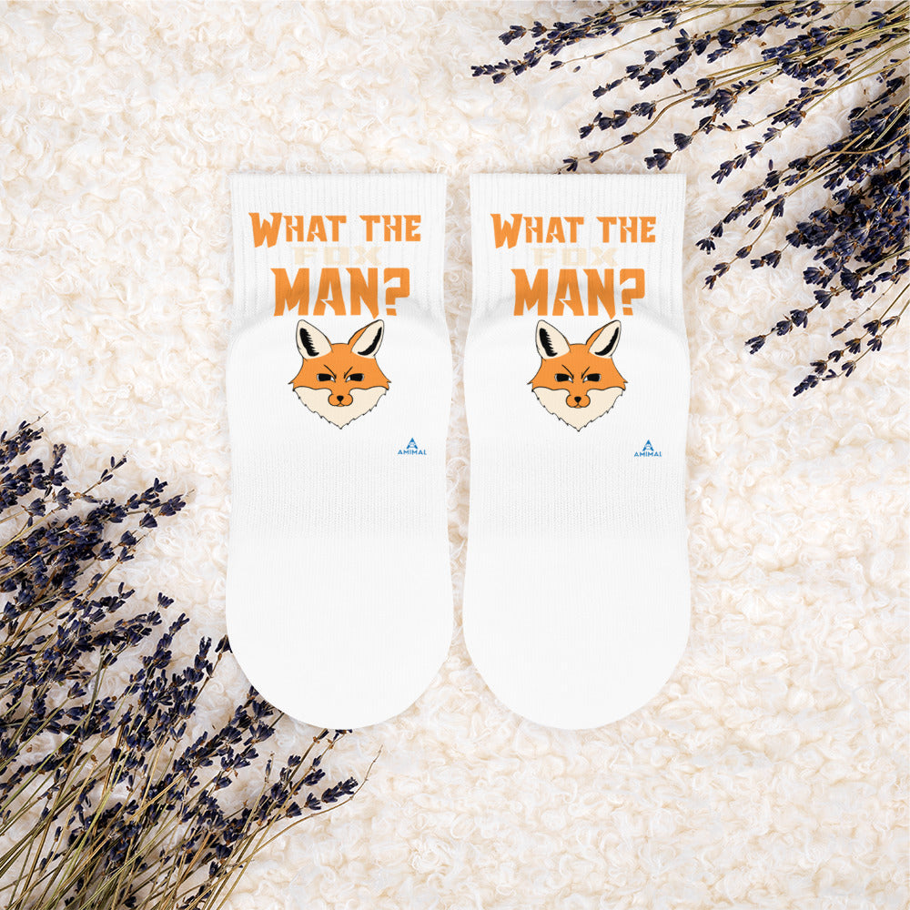"Chaussettes ""WHAT THE FOX MAN?"""