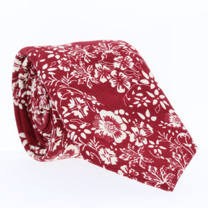 Ruby, skinny ties, floral ties, affordable, cotton ties, confidence- CORBATA