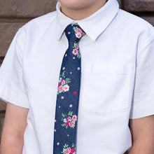 The Little Summer Blooms, NECKTIES, skinny ties, floral ties, affordable, cotton ties, confidence- CORBATA