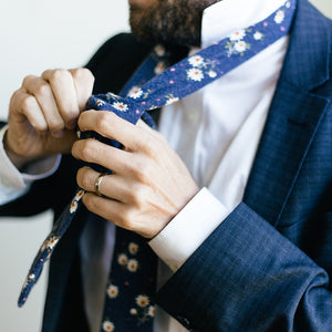 The Monday, NECKTIES, skinny ties, floral ties, affordable, cotton ties, confidence- CORBATA