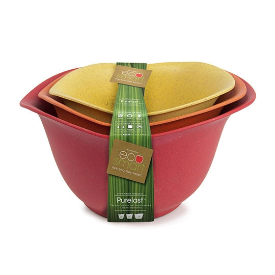 EcoSmart Purelast Mixing Bowls Red, Orange and Yellow 3 Pack
