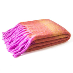Daybreak Mohair Wool Throw