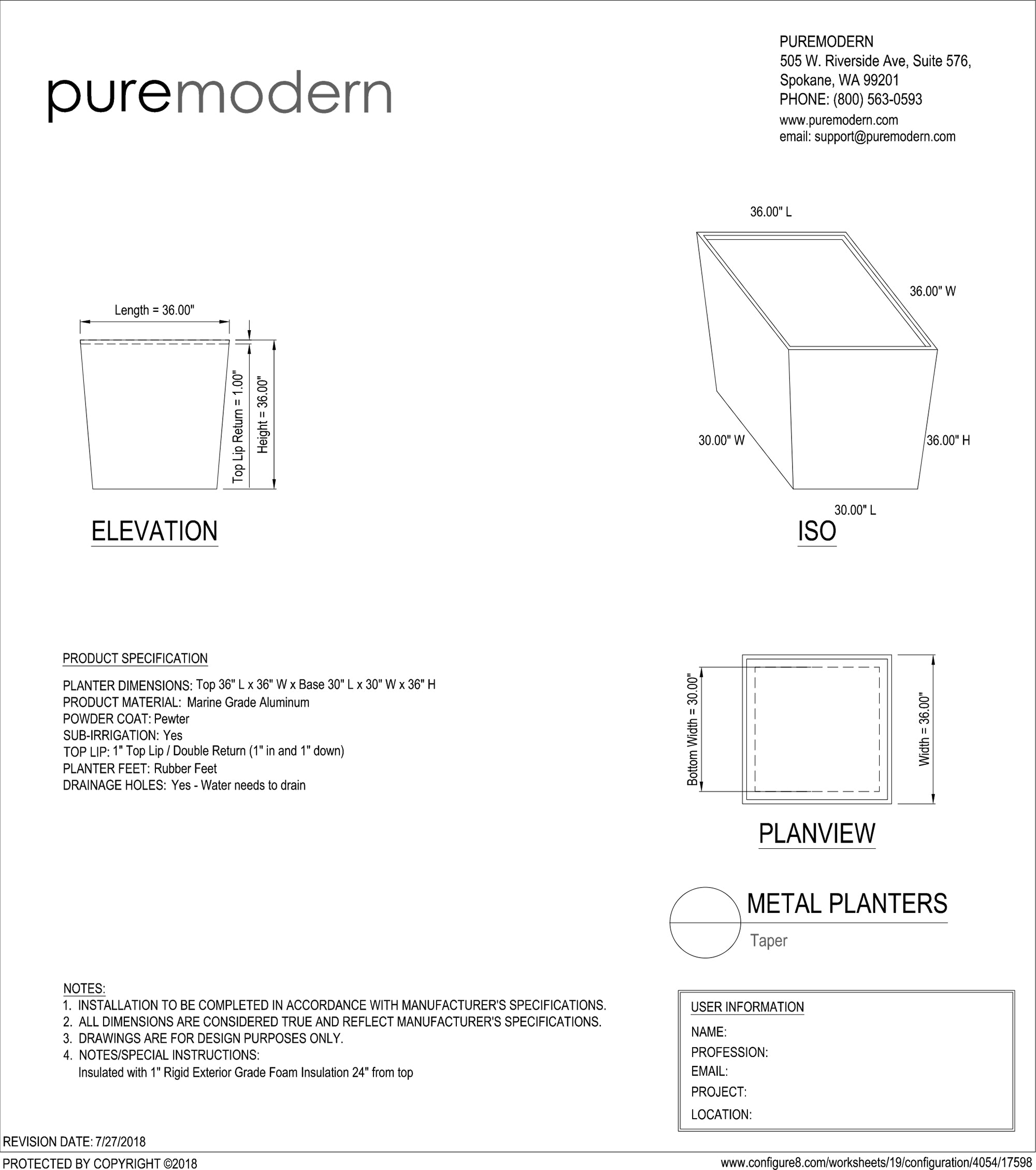 AutoCAD files for personalized planters