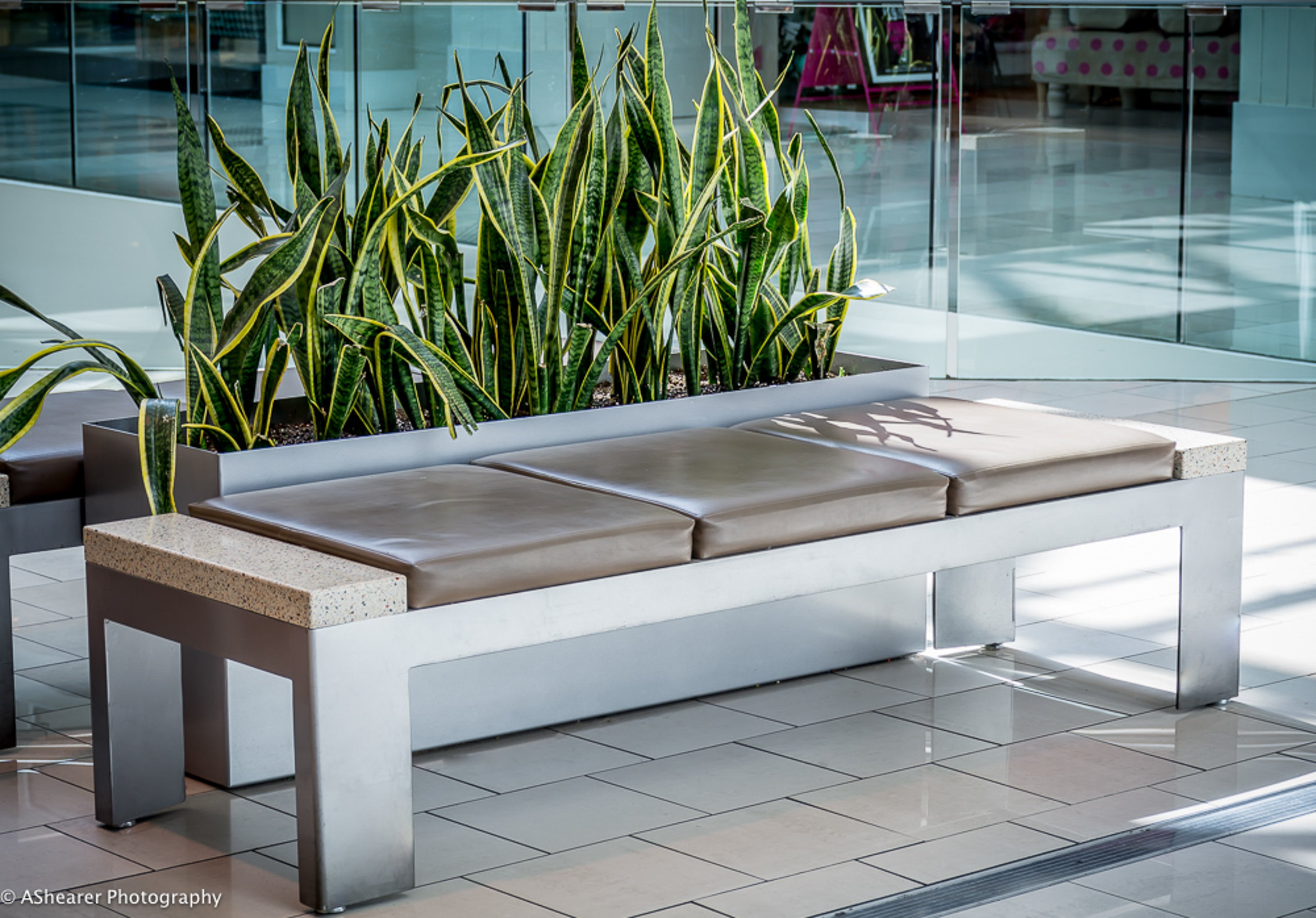 Modern Elite Aluminum Planters at Southcentre Mall in Calgary