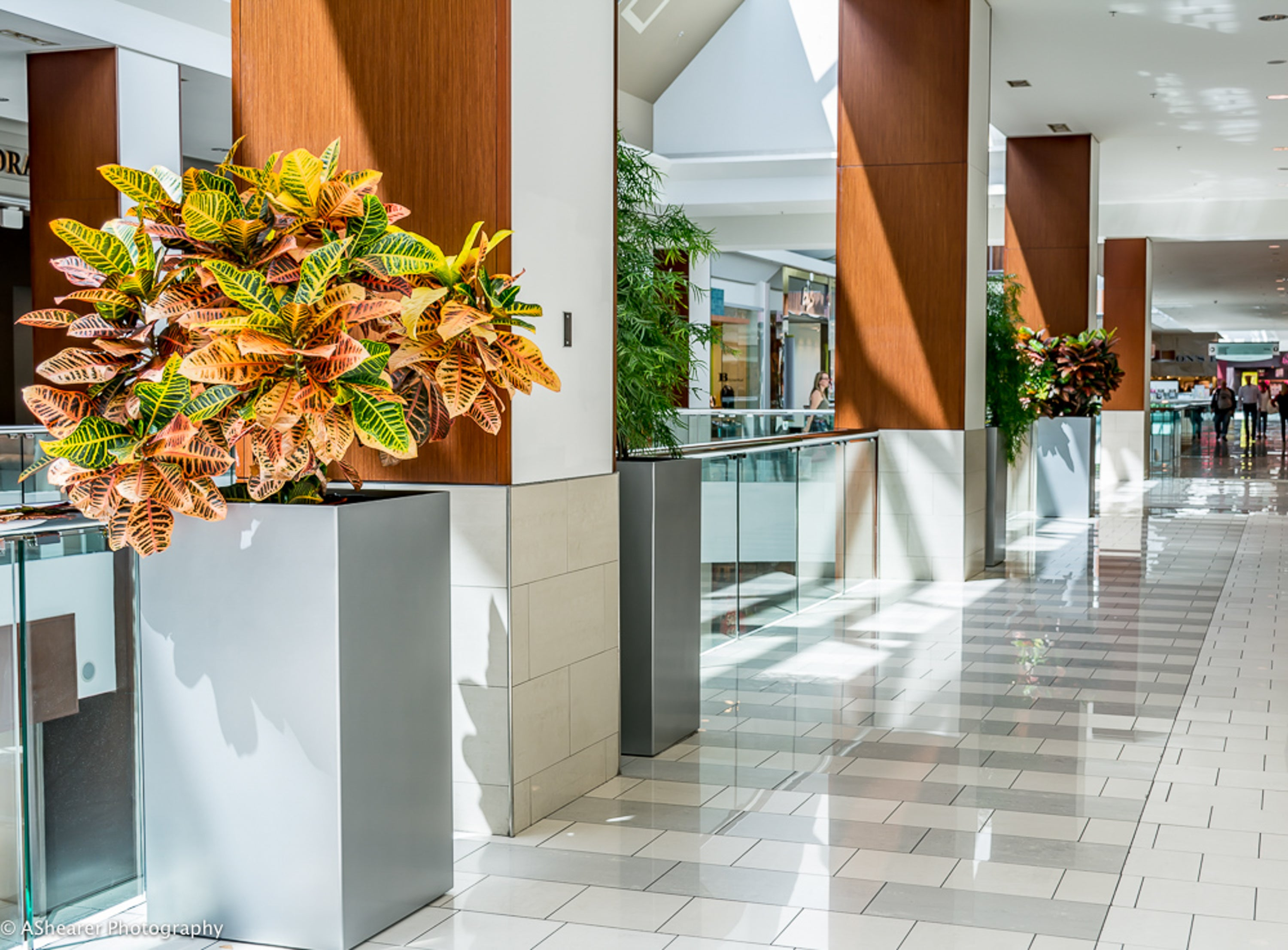 Modern Elite Tower Planters at Southcentre Shopping Mall Calgary AB