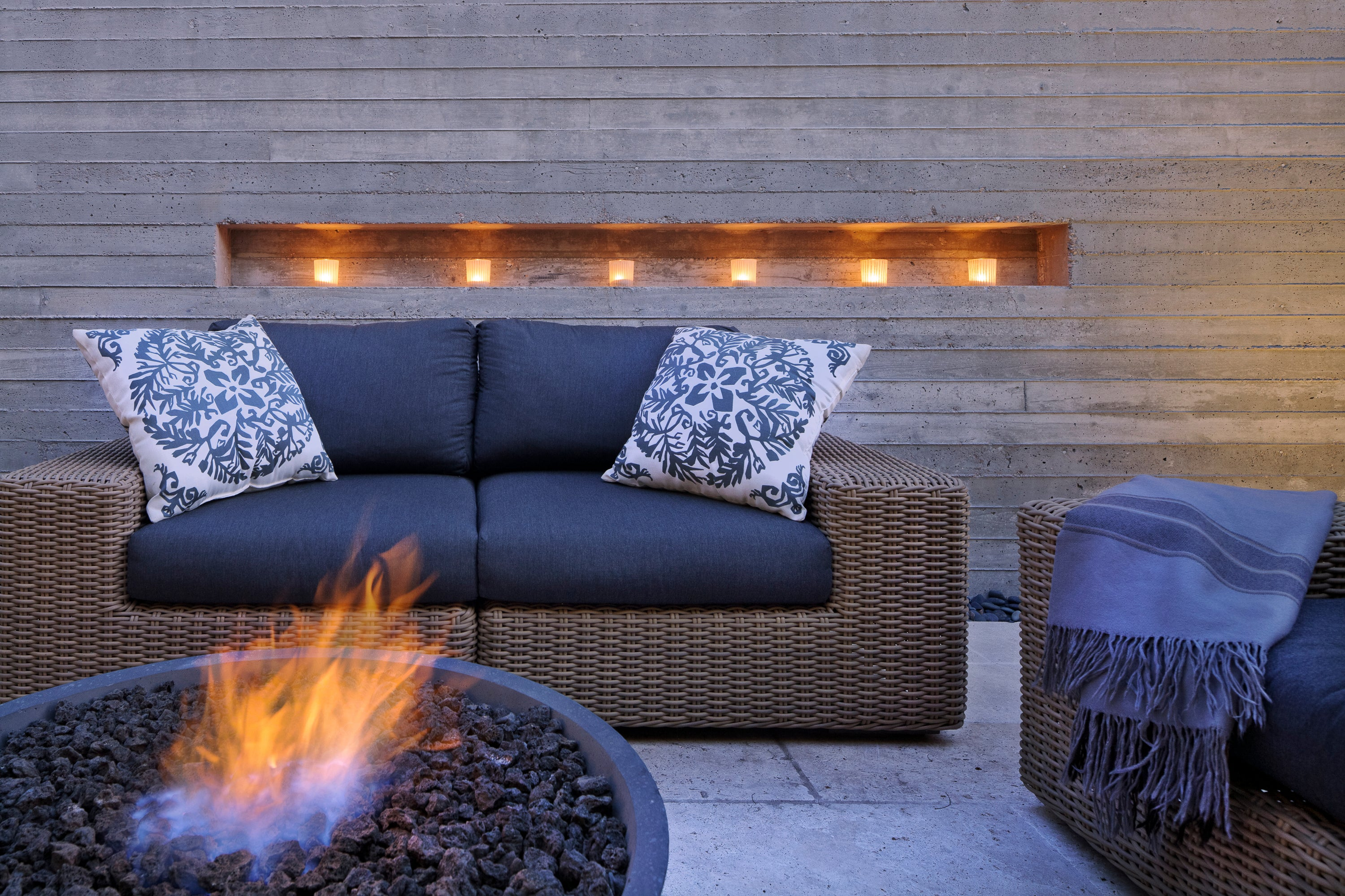 Zen Fire Pit at Private Residence Outdoor Room