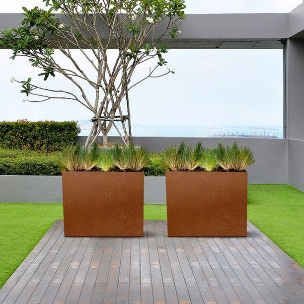 COR-TEN weather steel planters