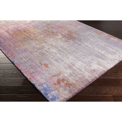 Watercolor Wool Pink Blue Grey Rug