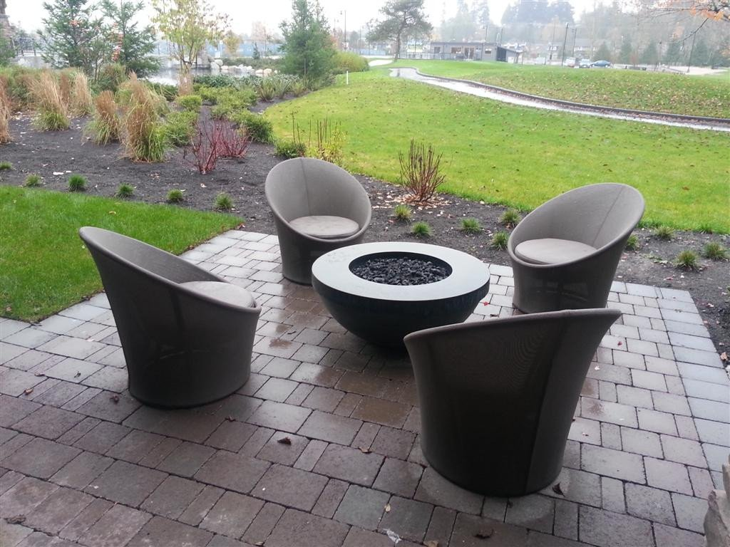 concrete fire pits  modern outdoor fire pit - sultan pation modern contemporary fire pit